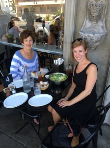 My mom and I at Joan's on Third
